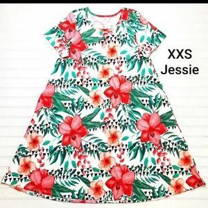 Nwt Lularoe Hibiscus Jessie Dress HTF Floral